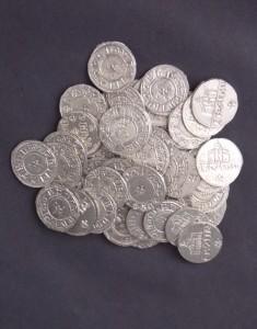 A selection of Viking Saxon coins made using English Pewter