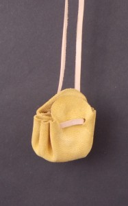 Hedeby draw string pouch with coins