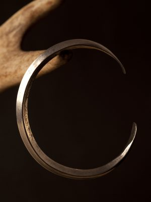 Pewter Viking Ring Money Bracelet Plain