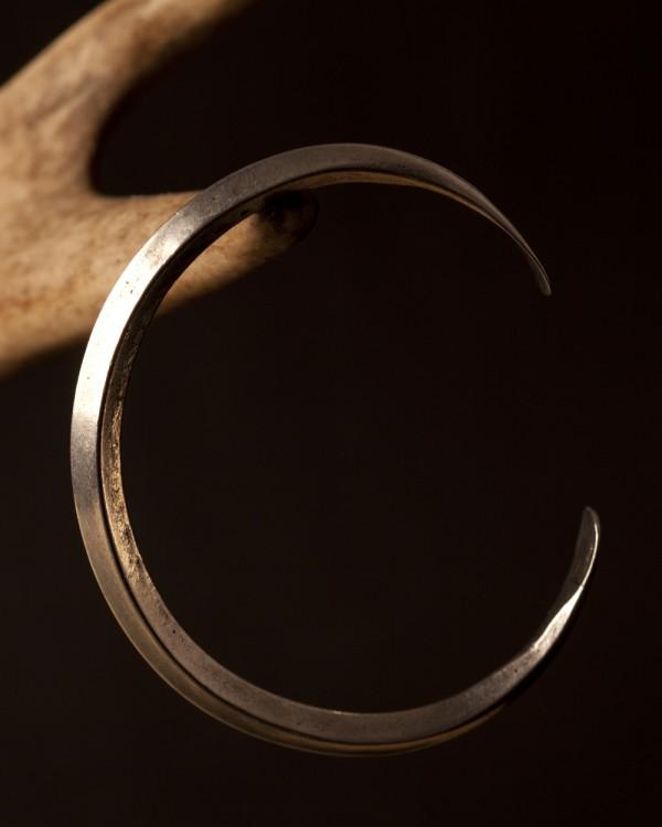 Pewter Viking Ring Money Bracelet Plain